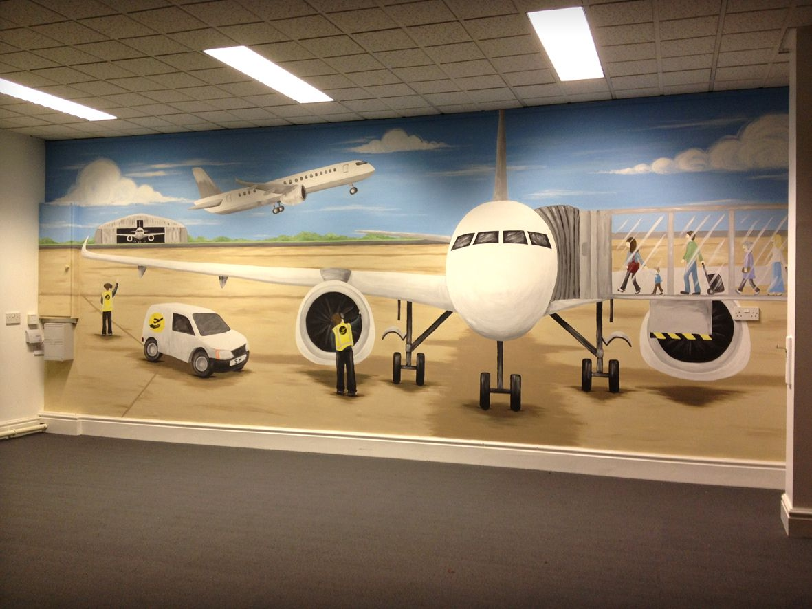 Aviation engineering wall mural lovemissarty pinterest for Aviation wall mural
