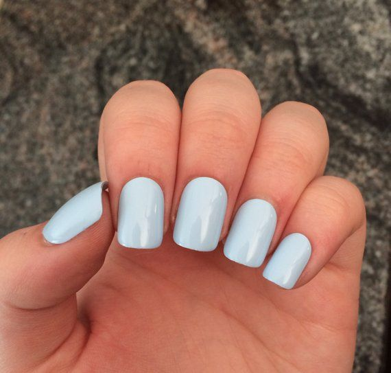 Blue Nails Baby Blue Press On Nails Set Of Nails Products In