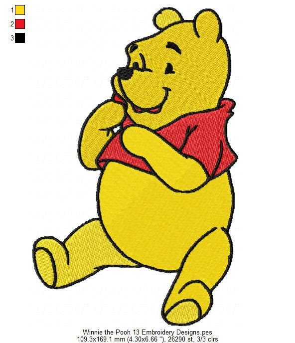 Winnie The Pooh Embroidery Design Embroidery Pinterest