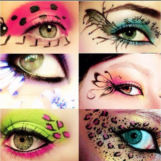 Love the eyeshadow art!