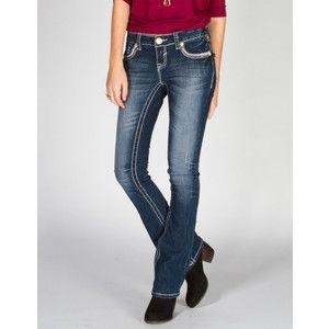 AMETHYST JEANS A Stitch Women's Slim Bootcut Jeans | Amethyst ...