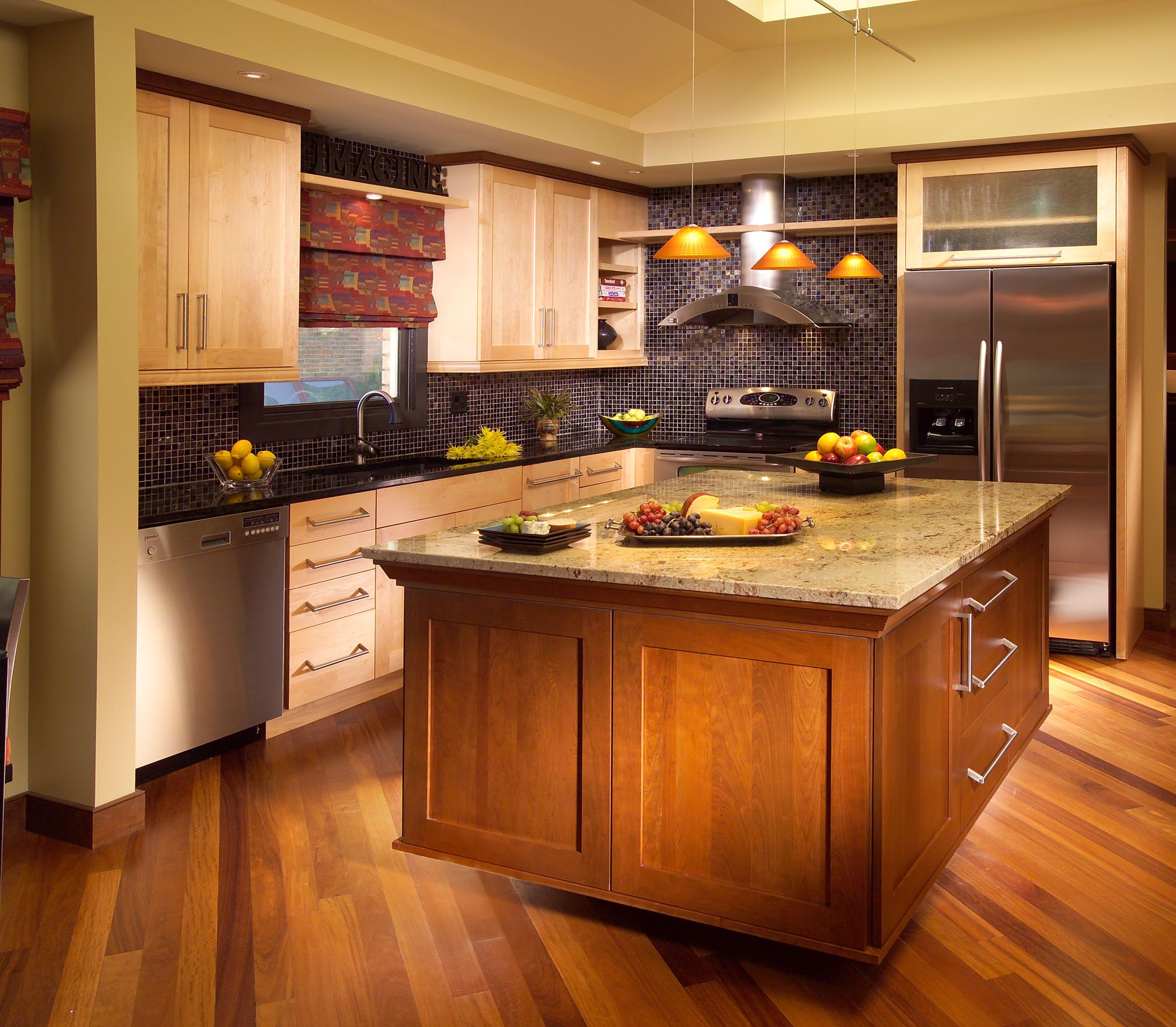 Kitchen Cabinets And Countertops Cost: Custom Wood Products #kitchenisland #cabinets