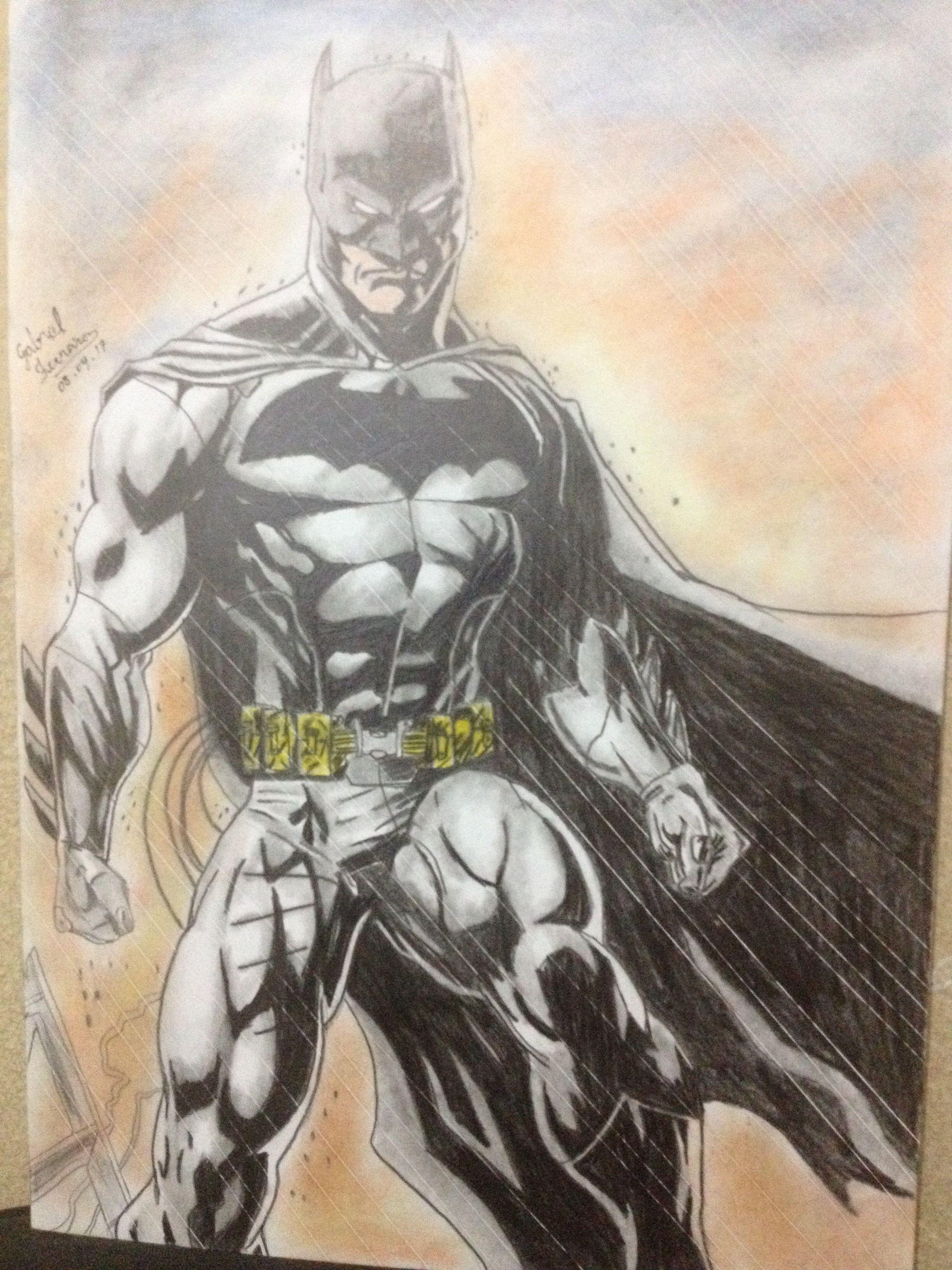 Gabrielartdraw Batman Desenho Realista Gabrielferreira Batman