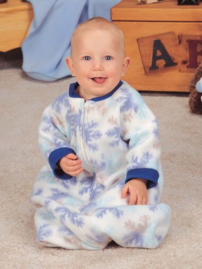 Sewing Pattern For A Baby Bunting Or Blanket Sleeper
