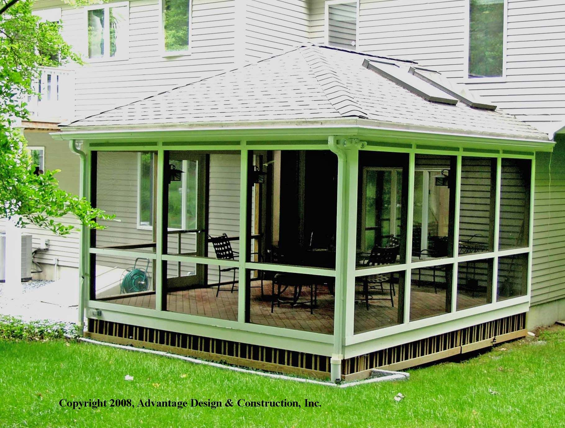 Small decks boston decks porches and sunrooms blog over 20 years of designing decked - Screen porch roof set ...