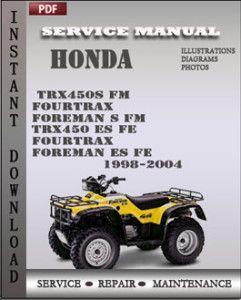 1998 2004 honda trx450 s fm 450 foreman service repair manual rh pinterest com 2004 honda rubicon 500 service manual pdf 2004 honda rubicon 500 service manual pdf