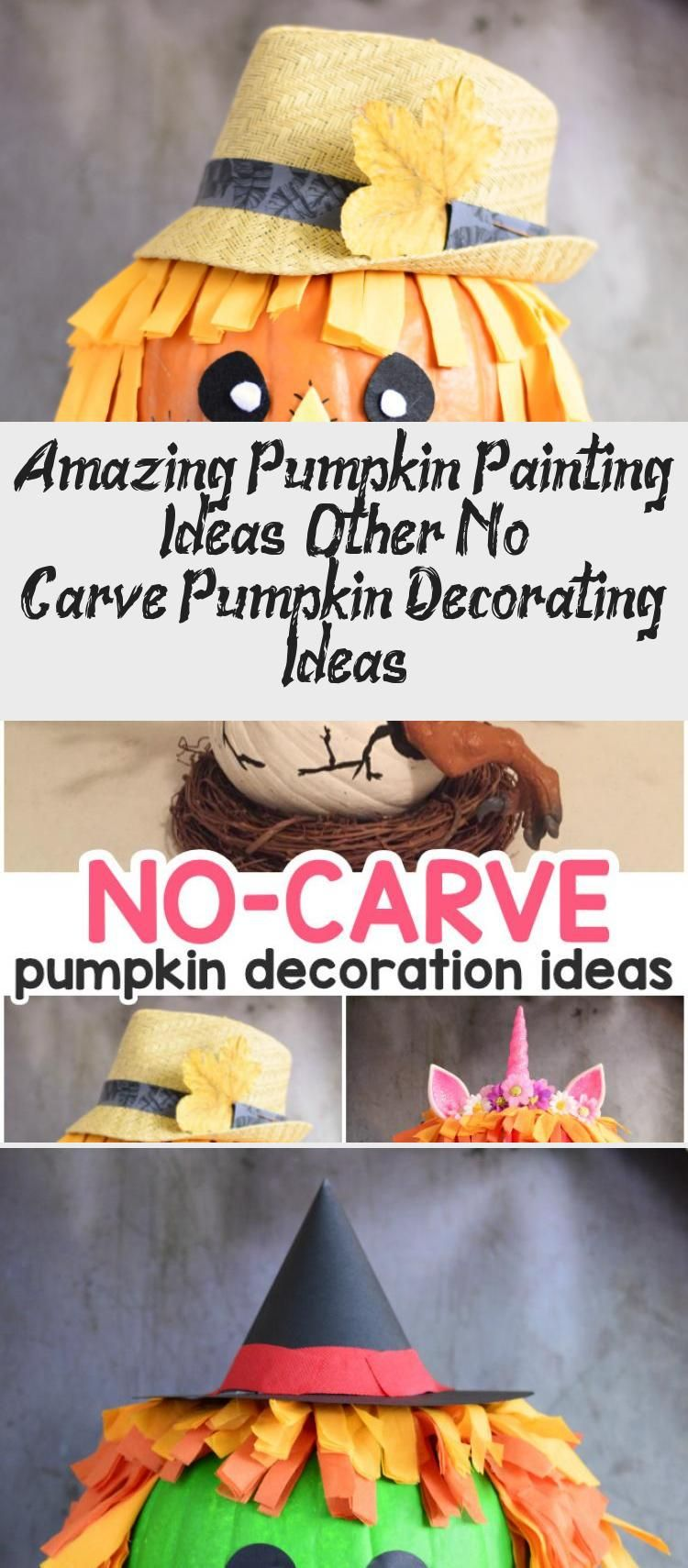 Amazing Pumpkin Painting Ideas & Other No Carve Pumpkin Decorating Ideas #paintingideasGalaxy #paintingideasAcrylic #paintingideasCartoon #Modernpaintingideas #Coolpaintingideas #pumpkinpaintingideas