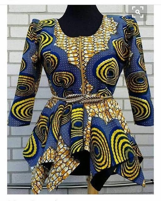 52faf733a4e94 Ankara Peplum Top Styles For Nigerian Ladies - DeZango Fashion Zone