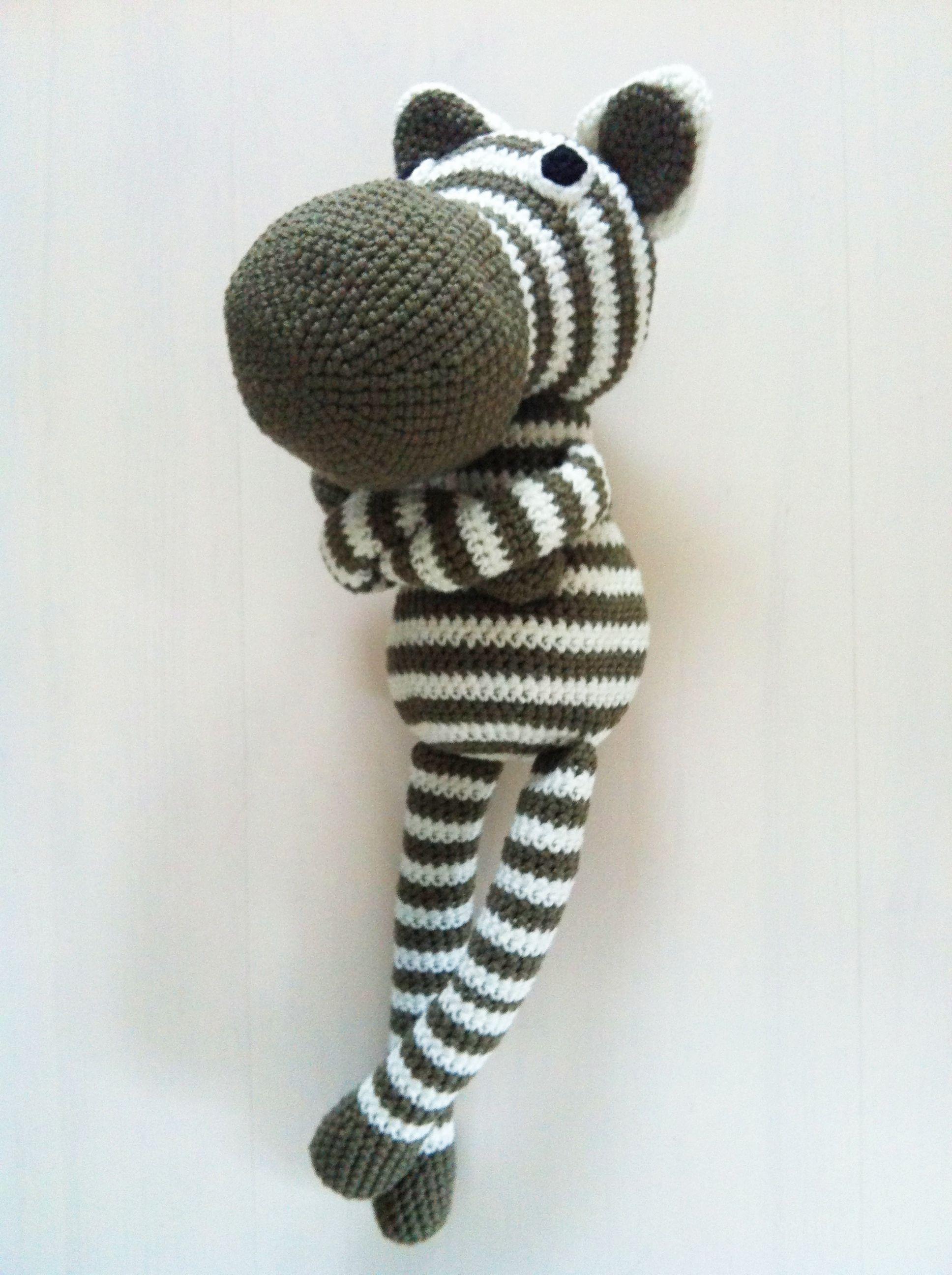 Crochet zebra in green | Dolls | Pinterest | Sorgenfresser ...