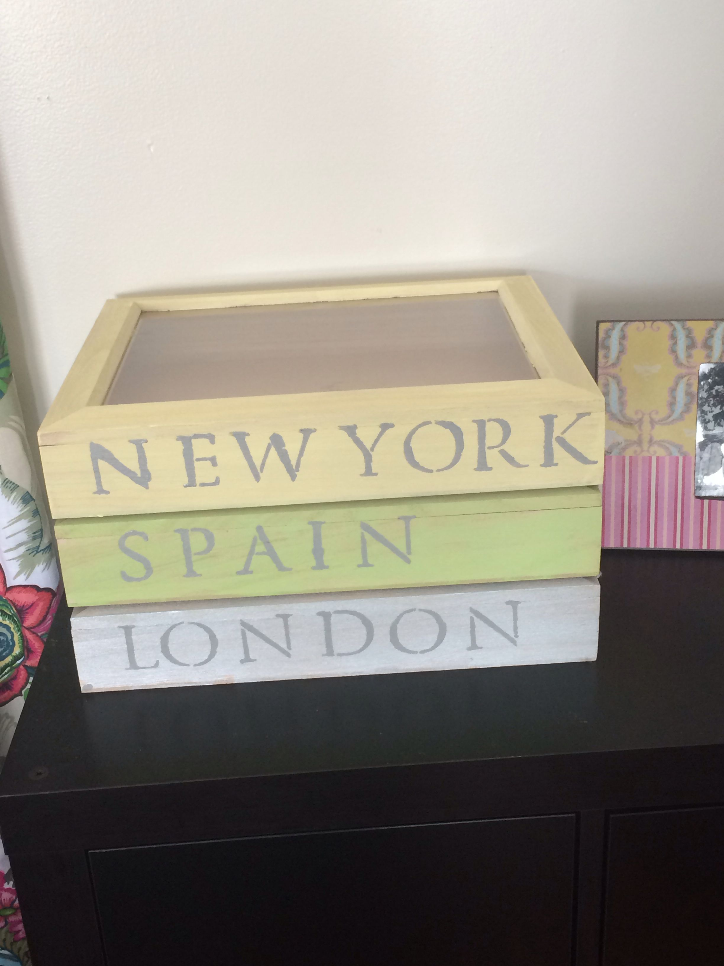 Travel keepsake boxes!!!
