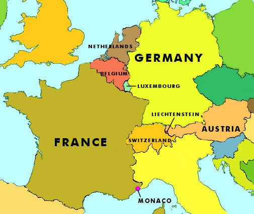 Map of Western Europe | Maps | Pinterest | Map, Europe and Country