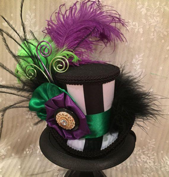 mini sombrero de copa sombrero de masquerade mardi gras hallowen pinterest kost m. Black Bedroom Furniture Sets. Home Design Ideas