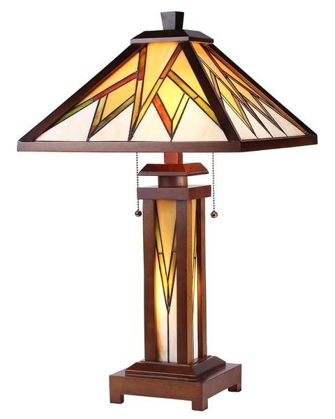 Pin By Maclin Studio On Frank Lloyd Wright And Prairie Lighting Wooden Table Lamps Table Lamp Stained Glass Table Lamps