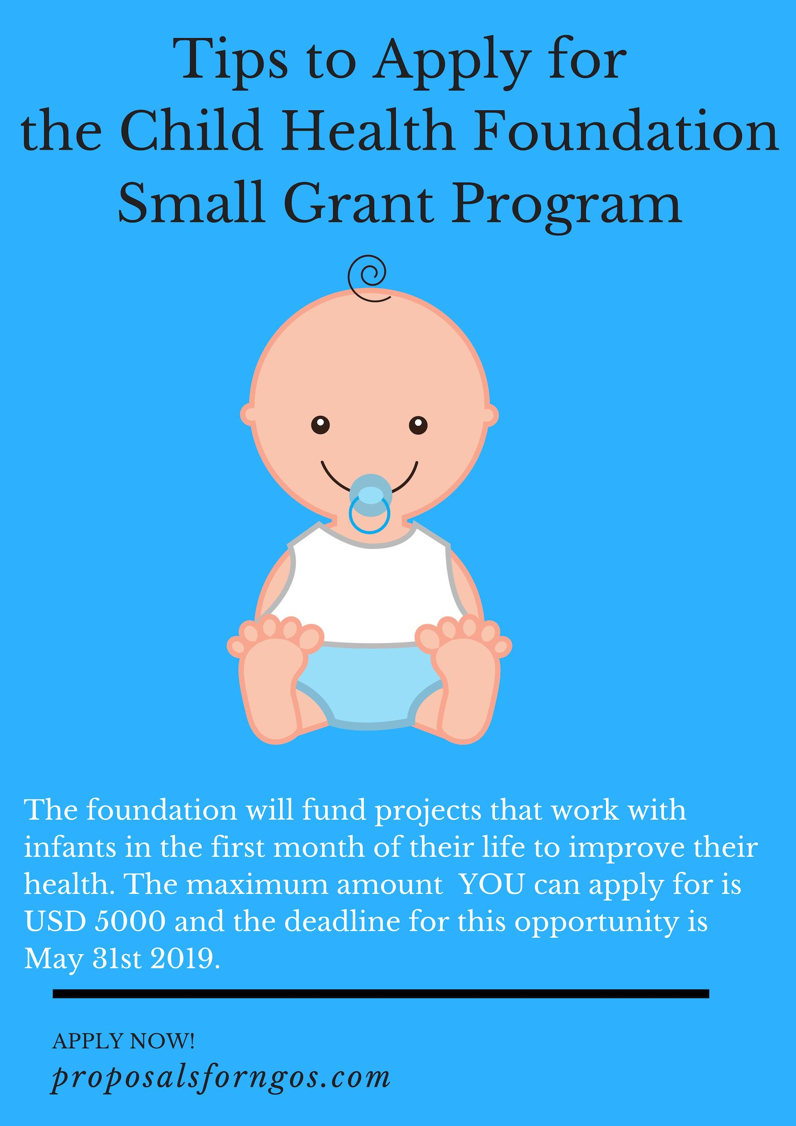 Tips to apply for the Child Health Foundation Small Grant