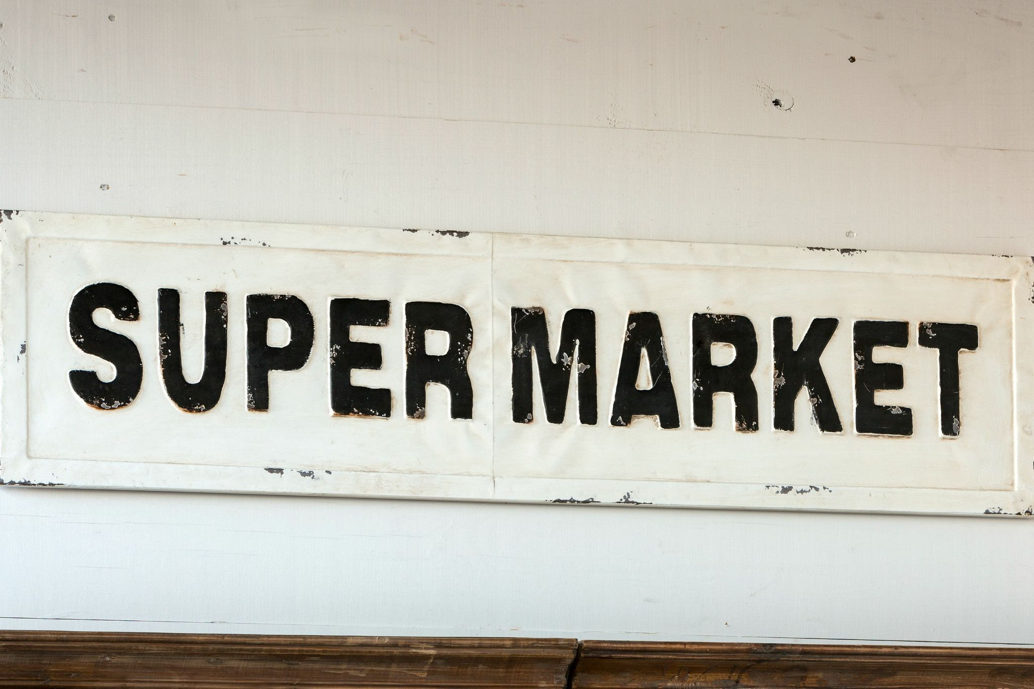 Metal Supermarket Sign | Metals, Pantry and Reclaimed wood art