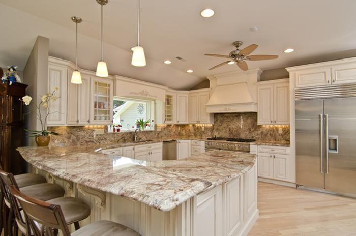 Kitchen Tile Ideas With Cream Cabinets Glazed Kitchen Cabinets