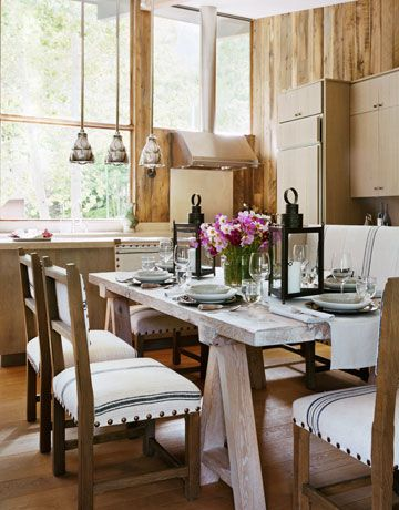 A Mountain Home Makeover  Swiss Chalet Aspen And Grain Sack Gorgeous Aspen Home Dining Room Furniture Inspiration Design