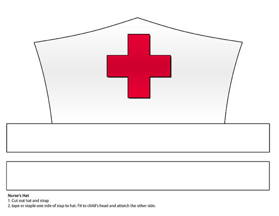 Nurse Hat Template