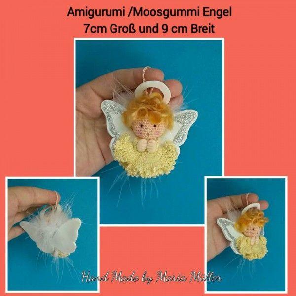 Jetzt gratis einen schönen Moosgummi-Engel häkeln. Anleitung ...