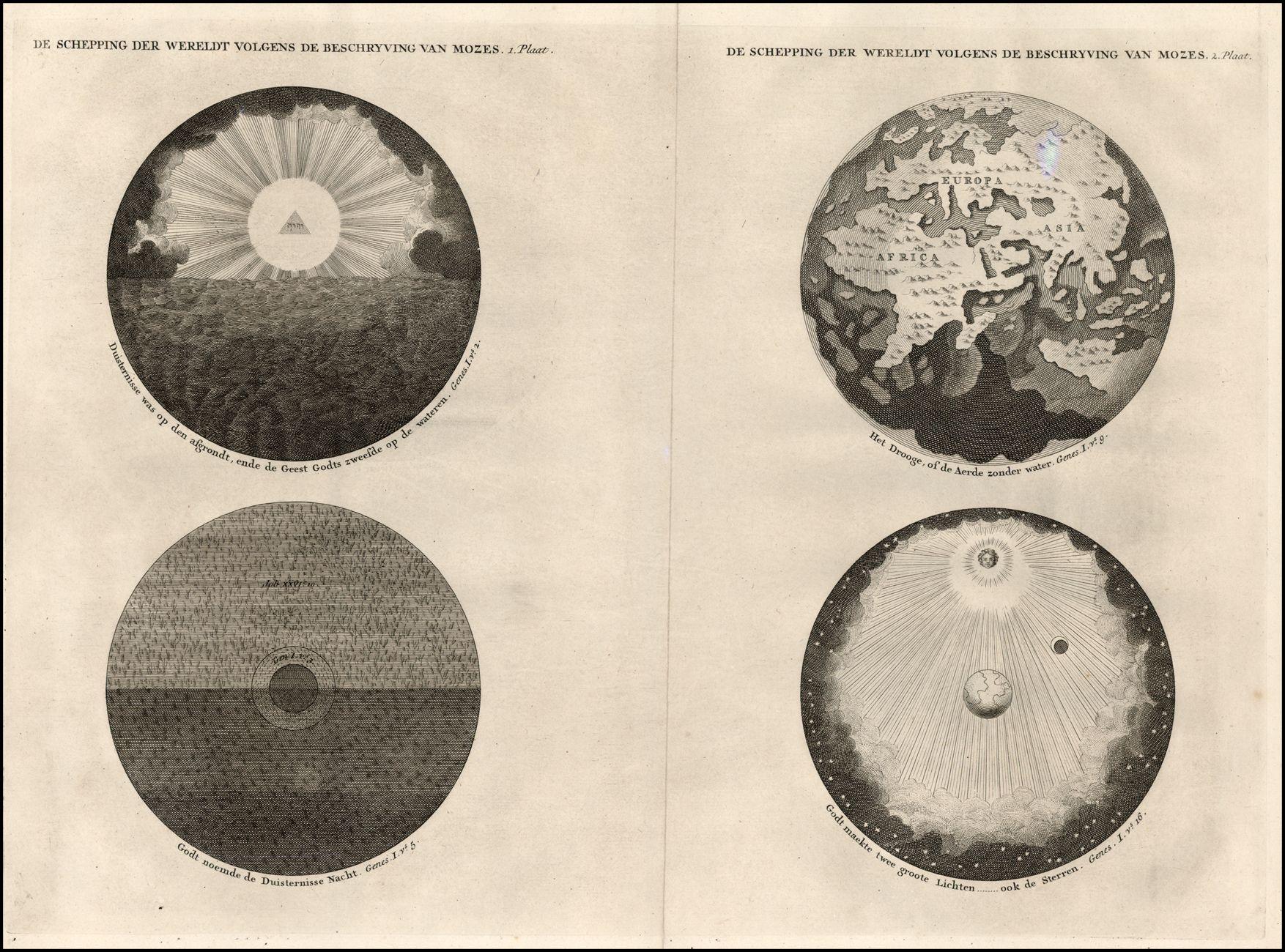 Wilhelm & Jan Goeree | De Schepping der Wereldt Volgens de Beschryving van Moze [The Creation of the World According to Moses] (1690)