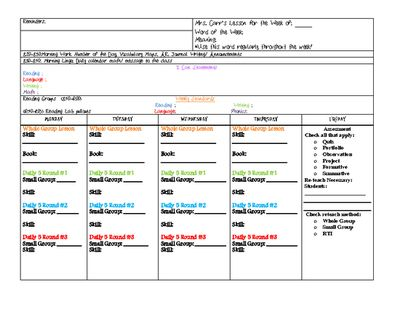 Common Core Lesson Plan Template from 2 Wise Owls on - common core lesson plan template