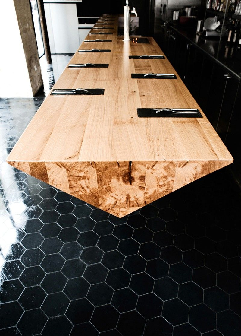 This Restaurant Has A Long Cantilevered Prism Table   Restaurant ...