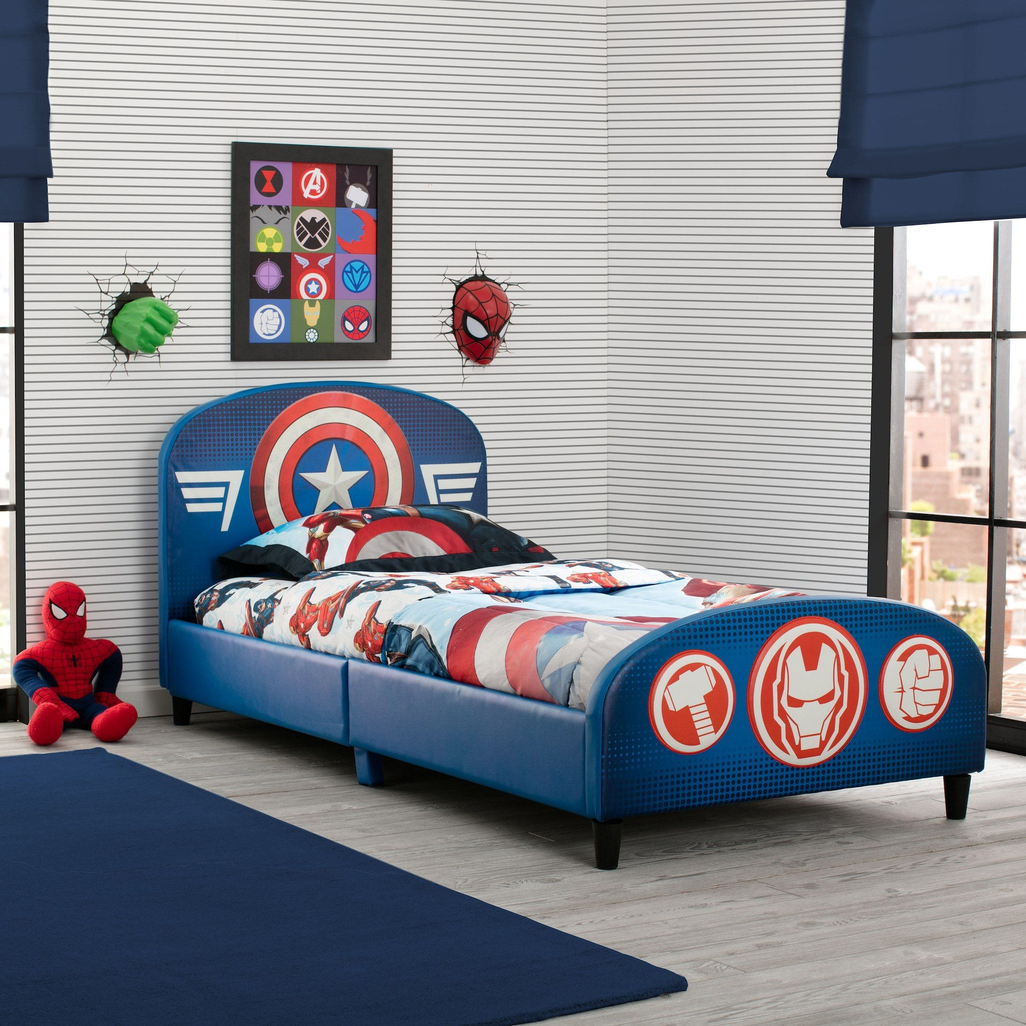 Best Marvel Avengers Upholstered Headboard And Footboard Twin 640 x 480