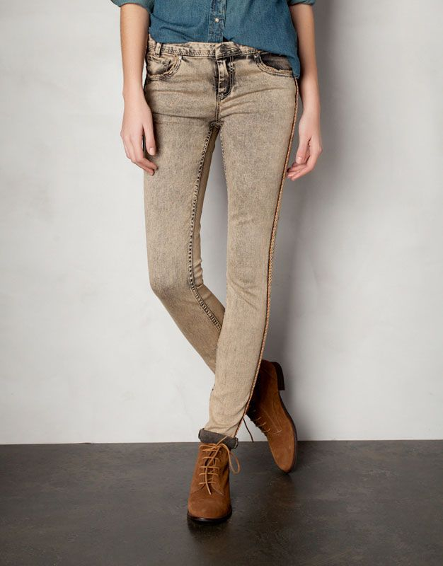 43fc085f751016 Pull & Bear - Trousers with side piping   Clothing   Trousers ...