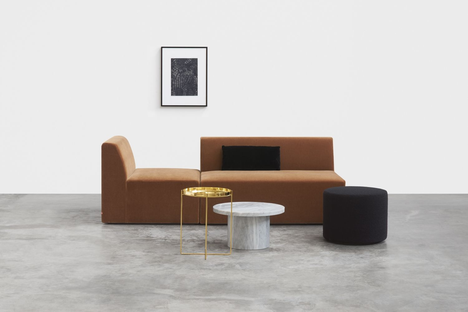 Zeitgen Ssische Sofas To Furnishings Sofa Kerman By Philipp Mainzer And Farah Ebrahimi In Cognac Mohair