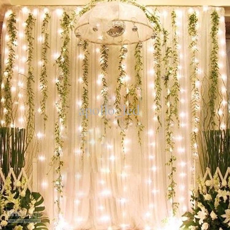 Outdoor 3m 3m 300 led curtain light strings waterproof xmas outdoor 3m 3m 300 led curtain light strings waterproof xmas wedding party festival background decoration flash fairy string light lamp junglespirit Images