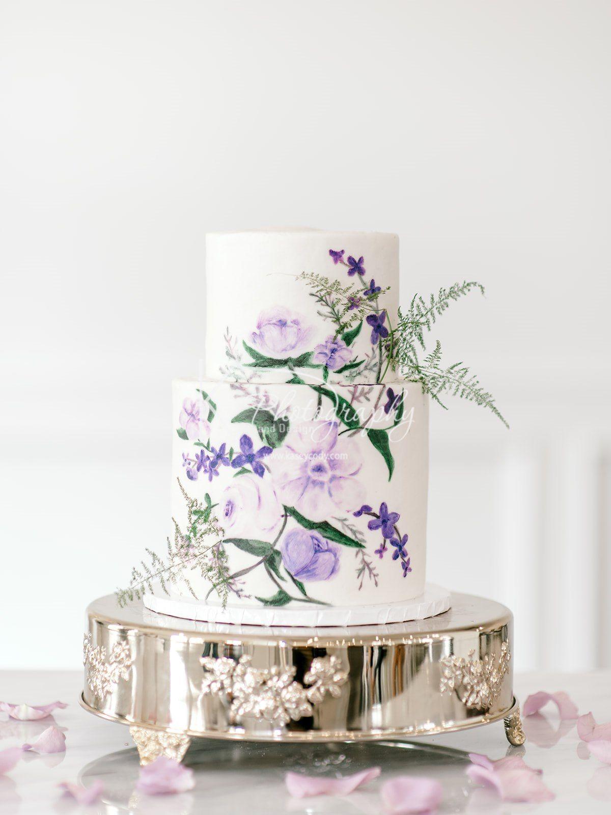 Modern bohemian wedding cake lavender wedding cake ideas unique