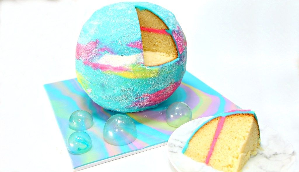 Bath Bomb Cake Will LOVES Bombs