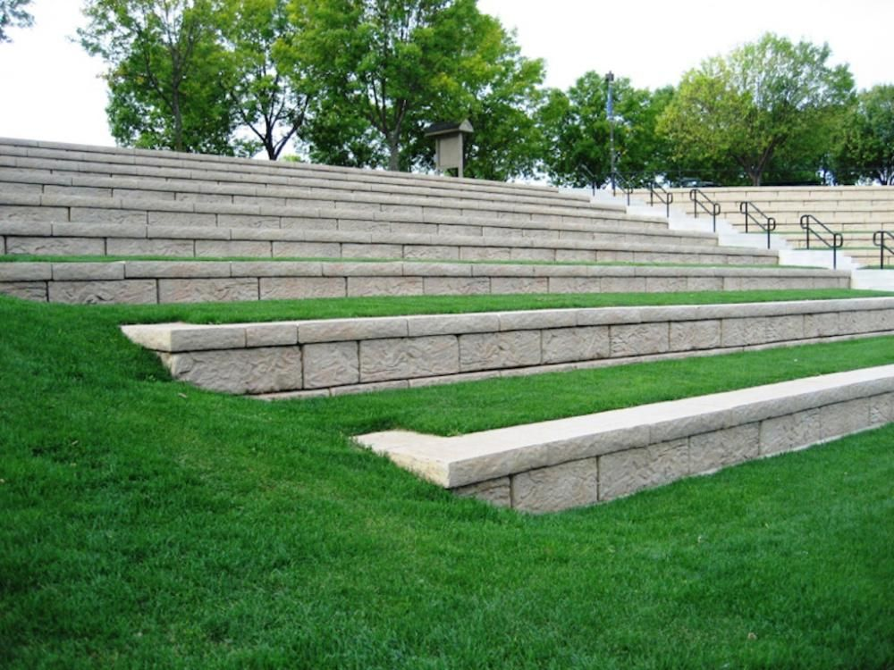 Image Result For Outdoor Concrete Amphitheater Seating Detail Retaining Wall Wall Systems Retaining Wall Steps