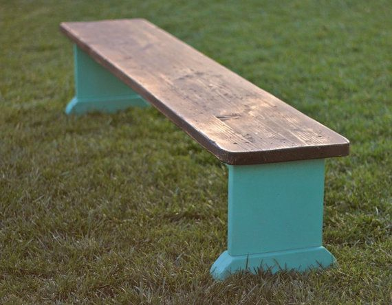 Swell Large Rustic Distressed Douglas Fir Bench By Monkandhoney Machost Co Dining Chair Design Ideas Machostcouk