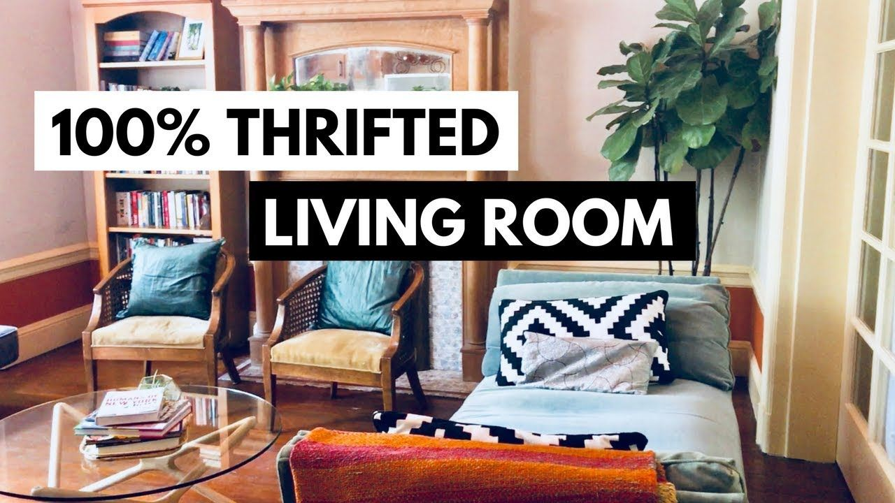 Boho Living Room Tour 100 Thrifted Second Hand Furniture