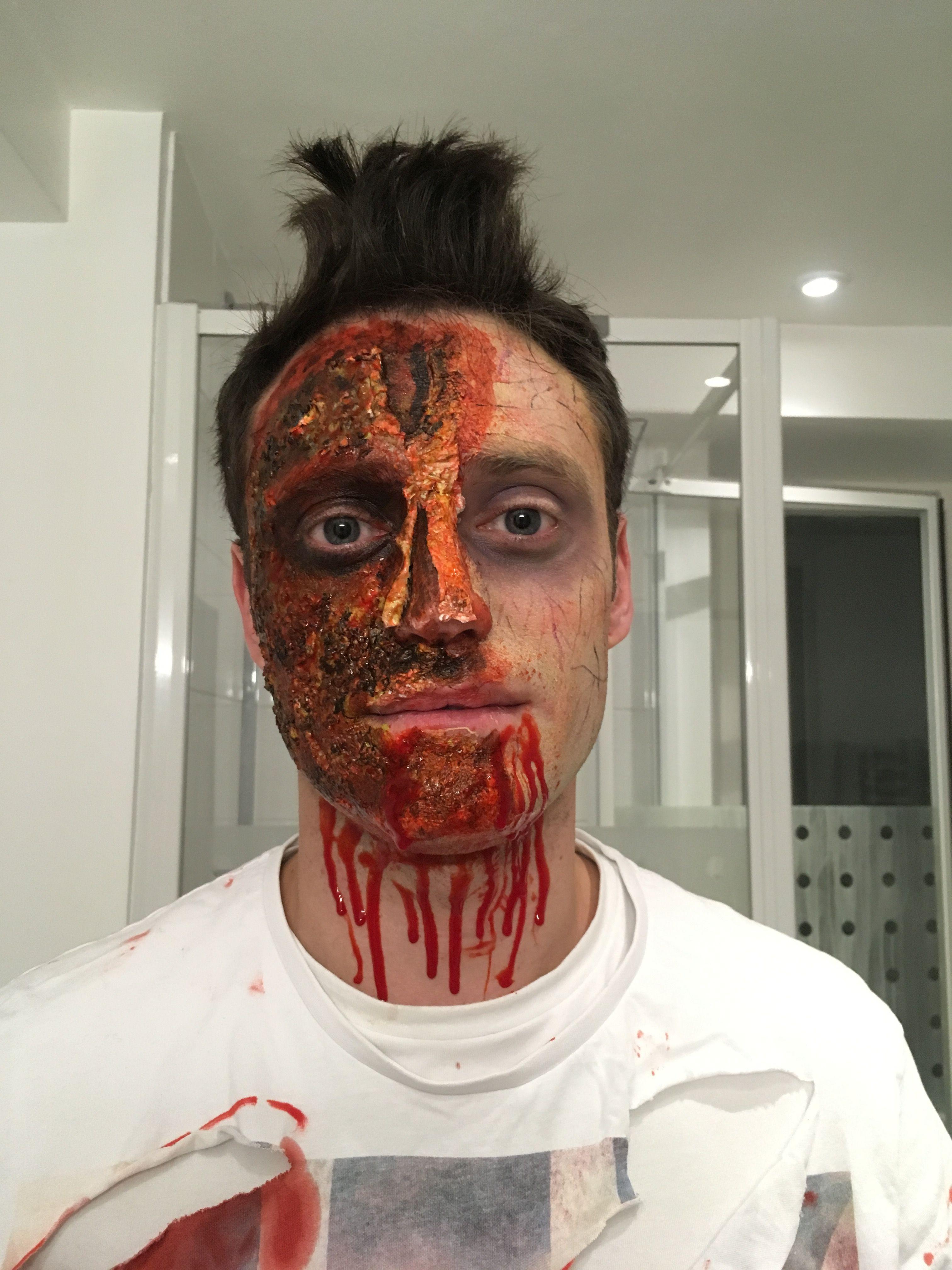 Half zombie face | Zombie face