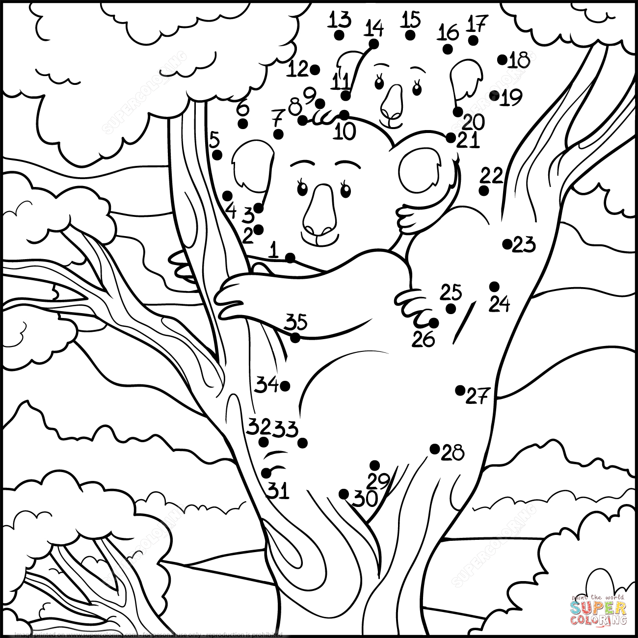 Koala Mom With Koala Baby Super Coloring Baby Coloring Pages Free Printable Coloring Pages Peacock Coloring Pages