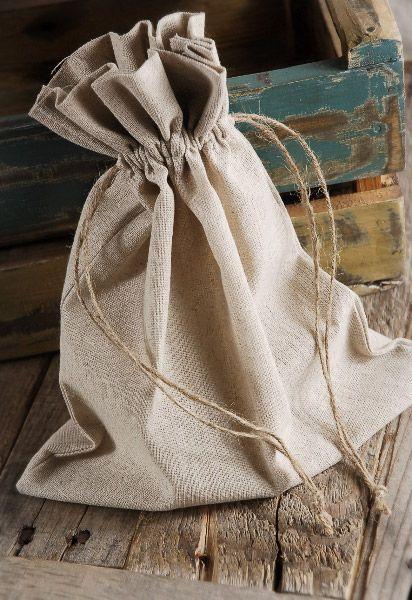 12 Large 10 x 12 Linen Drawstring Bags | Tasker, Gaver og ...