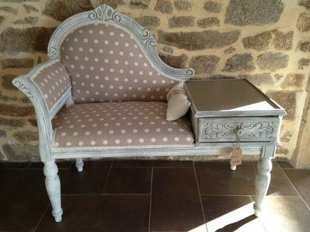 banquette telephone relooking meuble