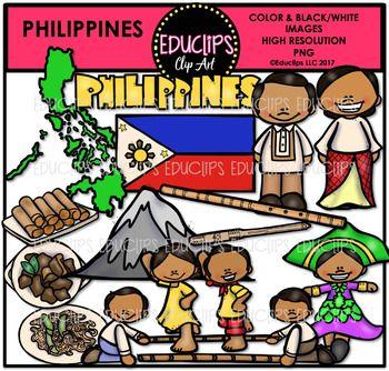Philippines Clip Art Bundle Educlips Clipart Art Bundle Clip Art Word Art Sign