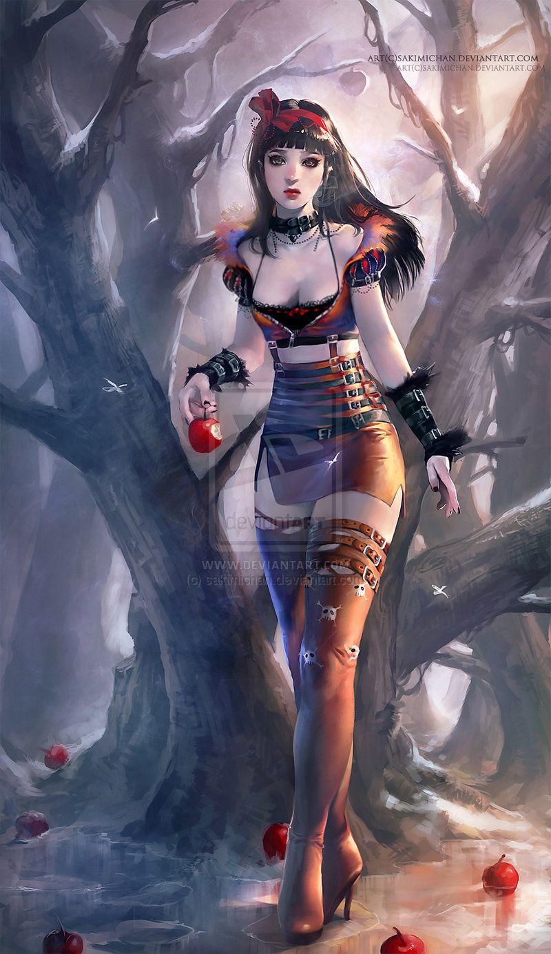 Snow White resubmit by sakimichan deviantart com on