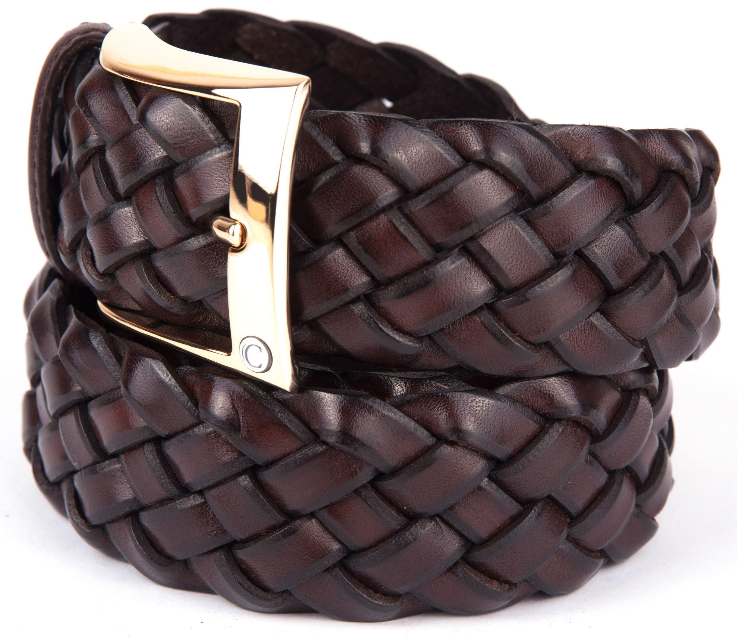 Casual Intrecciato Twisted Leather Men's Belt