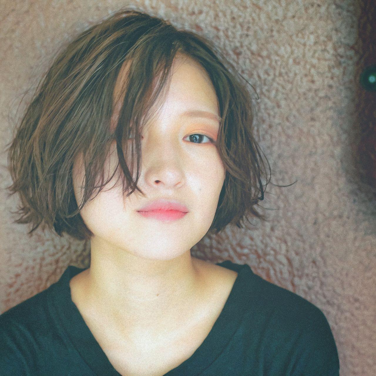 河津佑輝さんのヘアカタログ | アッシュ,前髪,クセっぽニュアンス,カジュアルモード,ブラントボブ | 2016.08.23 00.35 - HAIR