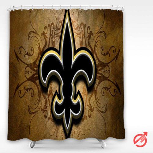 Cheap Nfl New Orleans Saints Nfl Football Shower Curtain Cheap