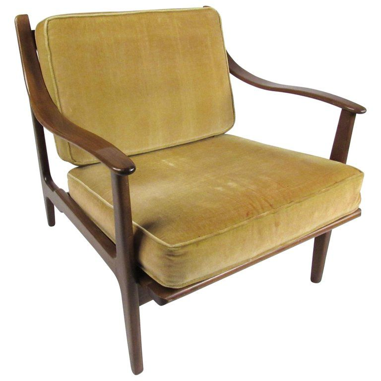 Vintage Modern Walnut Lounge Chair With Images Vintage Lounge
