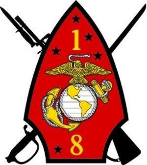 USMC 1st Battalion 6th Marines Insignia Military Graphics Decal Sticker Car
