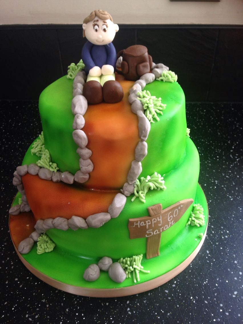 Scotland Hiking Ramblers Themed Cake Creative Food