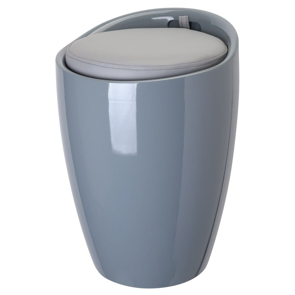 Wasmand/badkamerzitje grijs - Badkamer ideeën | Pinterest - Wasmand ...