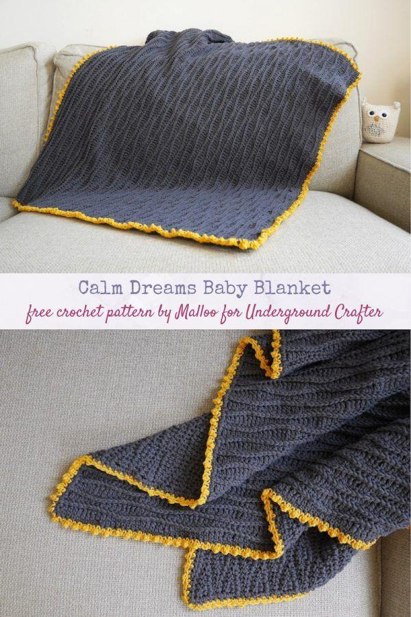 Crochet Pattern: Calm Dreams Baby Blanket by Mallo
