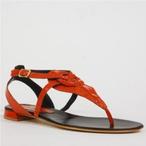 Burnt orange patent sandals, large size shoes for women, available ...